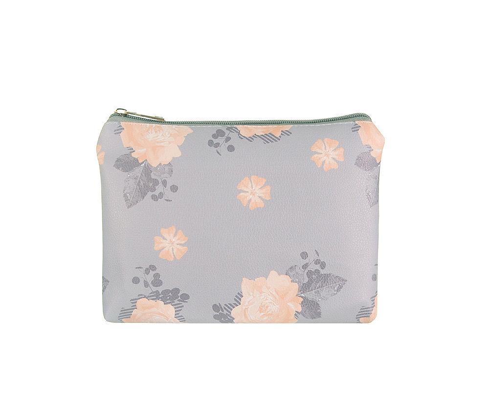 Lilac Floral Large Make Up Bag