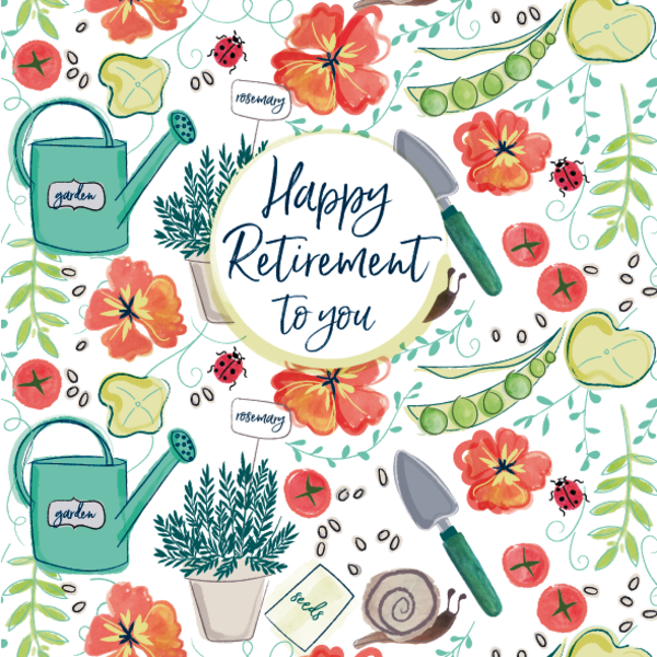Pattern Boutique Happy Retirement Card