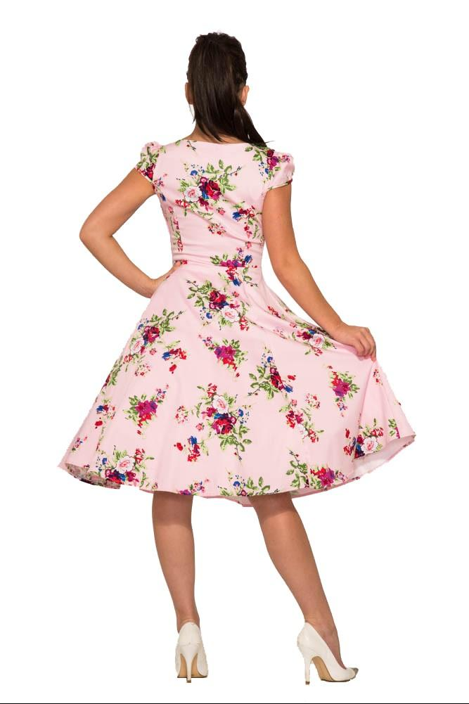 Darcey Pink Floral 1950s Style Dress Size 20