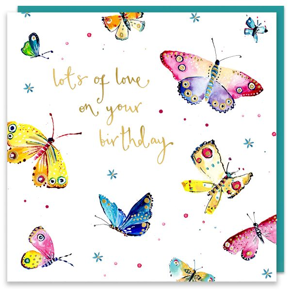 Lots Of Love Birthday Butterflies Card
