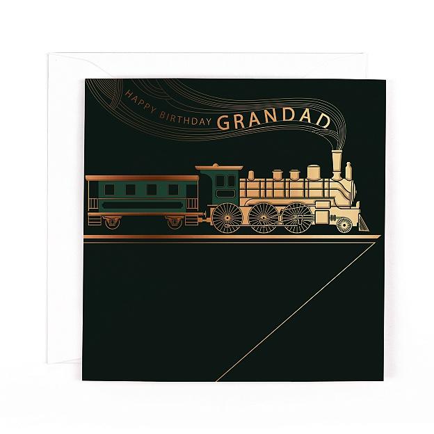 Orion Happy Birthday Grandad Train Card