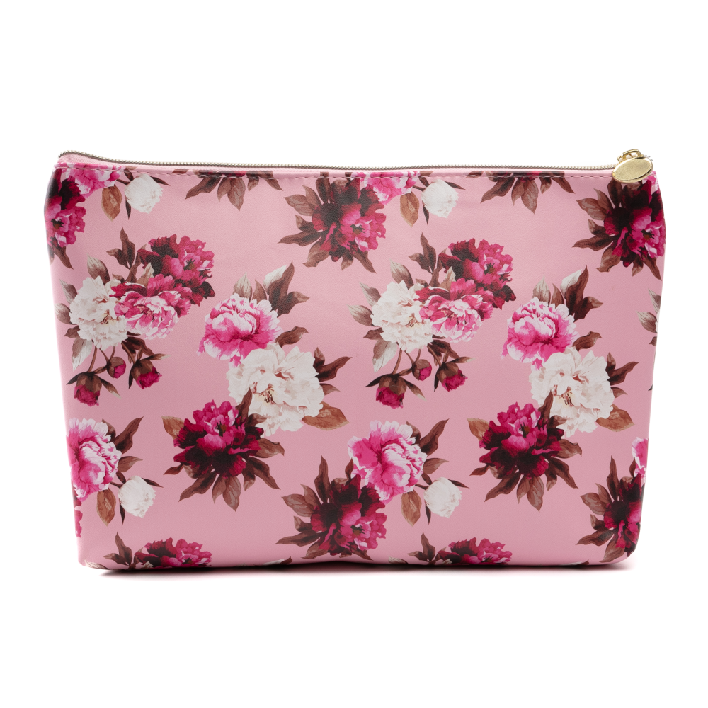 Vintage Floral Large Cosmetic Travel Bag
