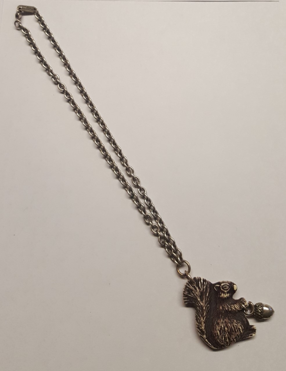 Classic Hardware Squirrel Necklace Brown