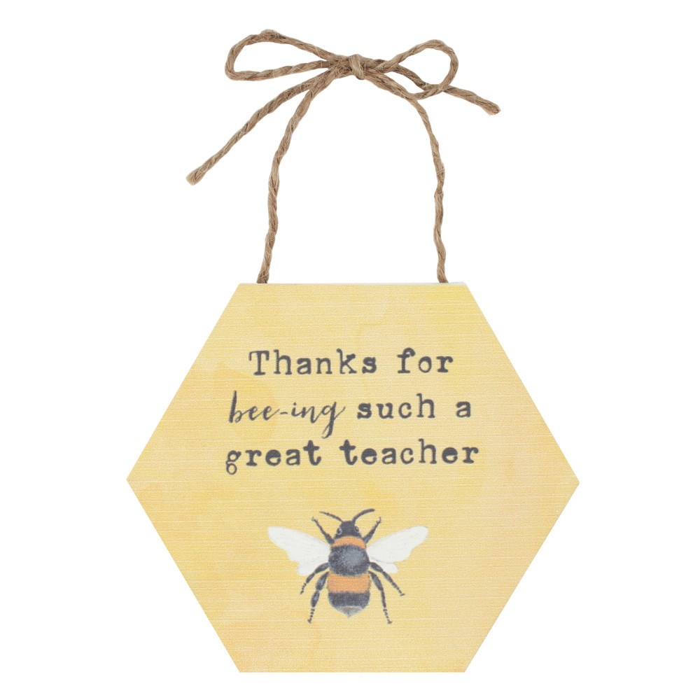 Thanks For Bee-ing Such A Great Teacher Mini Sign