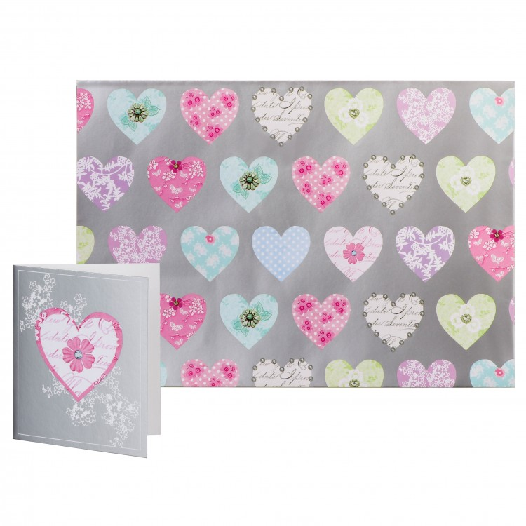Gift Wrap Pack Pretty Hearts