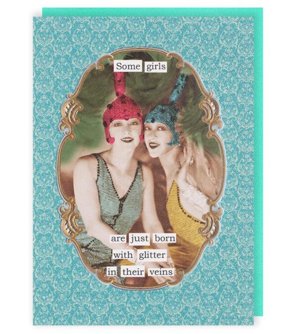 Darling Divas Glitter In Their Veins Card