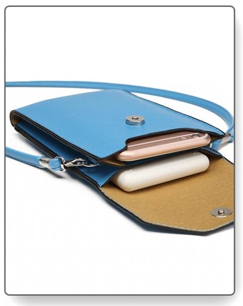 Slim Mobile Crossbody Bag Blue