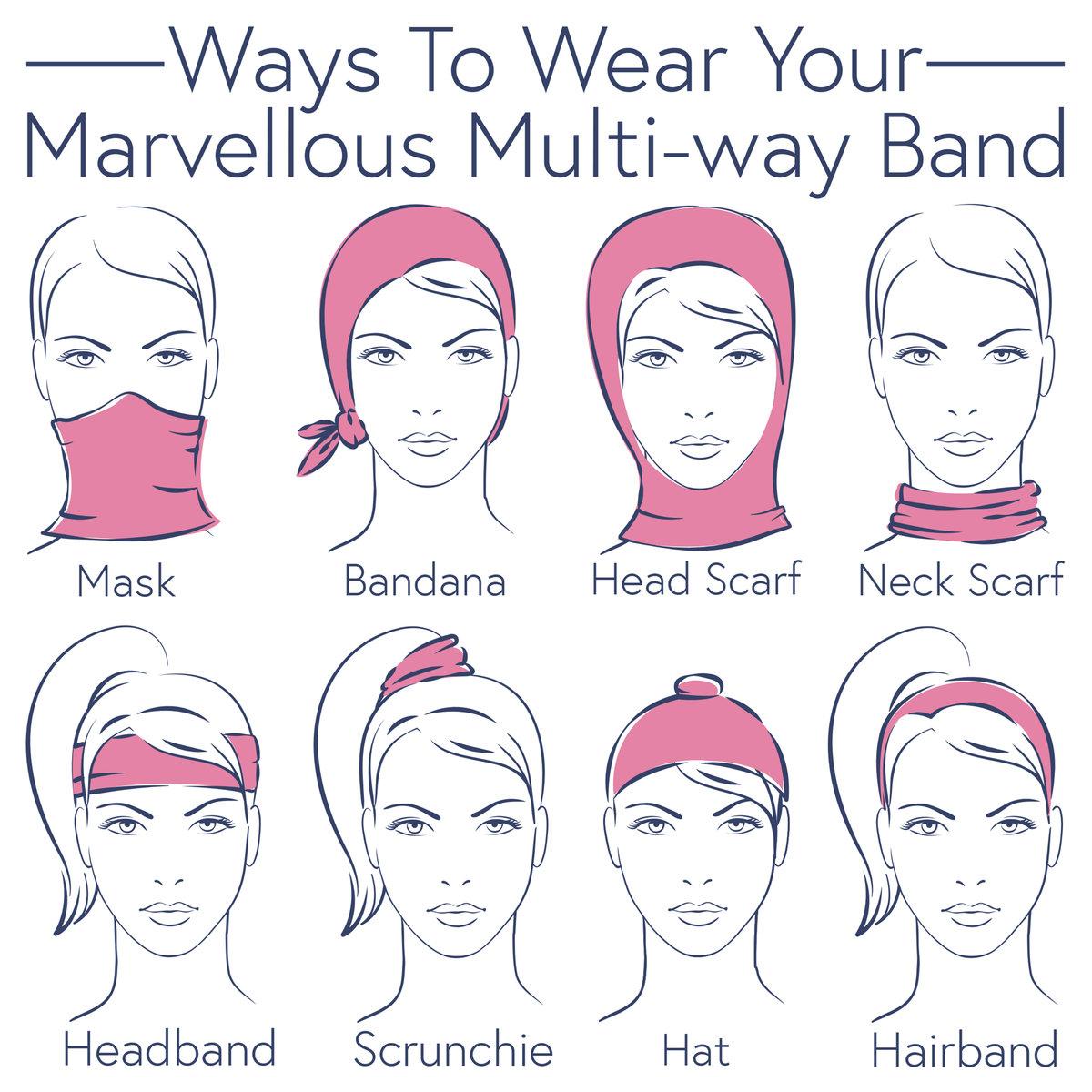 Powder Multiway Band & Mask Leaf Cream
