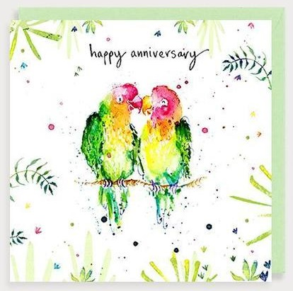 Happy Anniversary Lovebirds Card