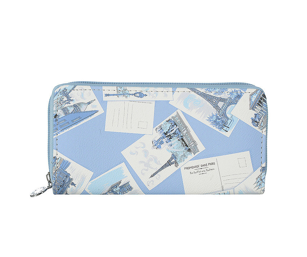 Blue Postcard Purse