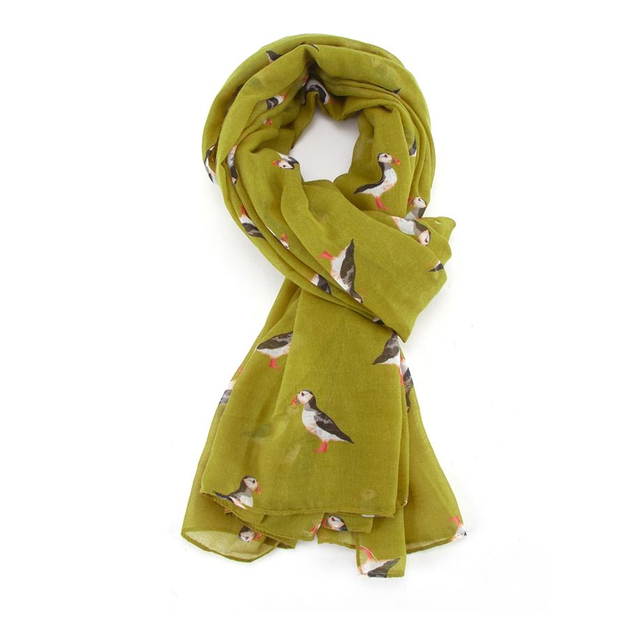 Puffin Scarf Lime
