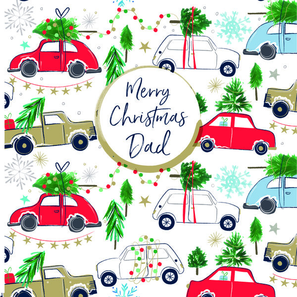 Frosted Merry Christmas Dad Card