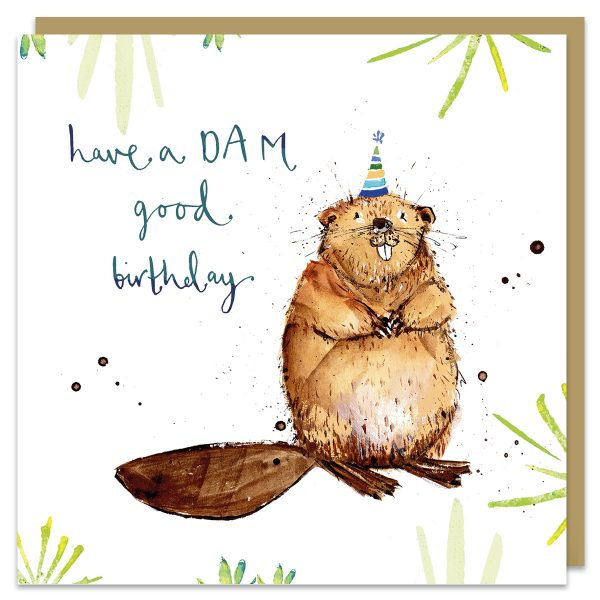 Dam Good Birthday Beaver Card