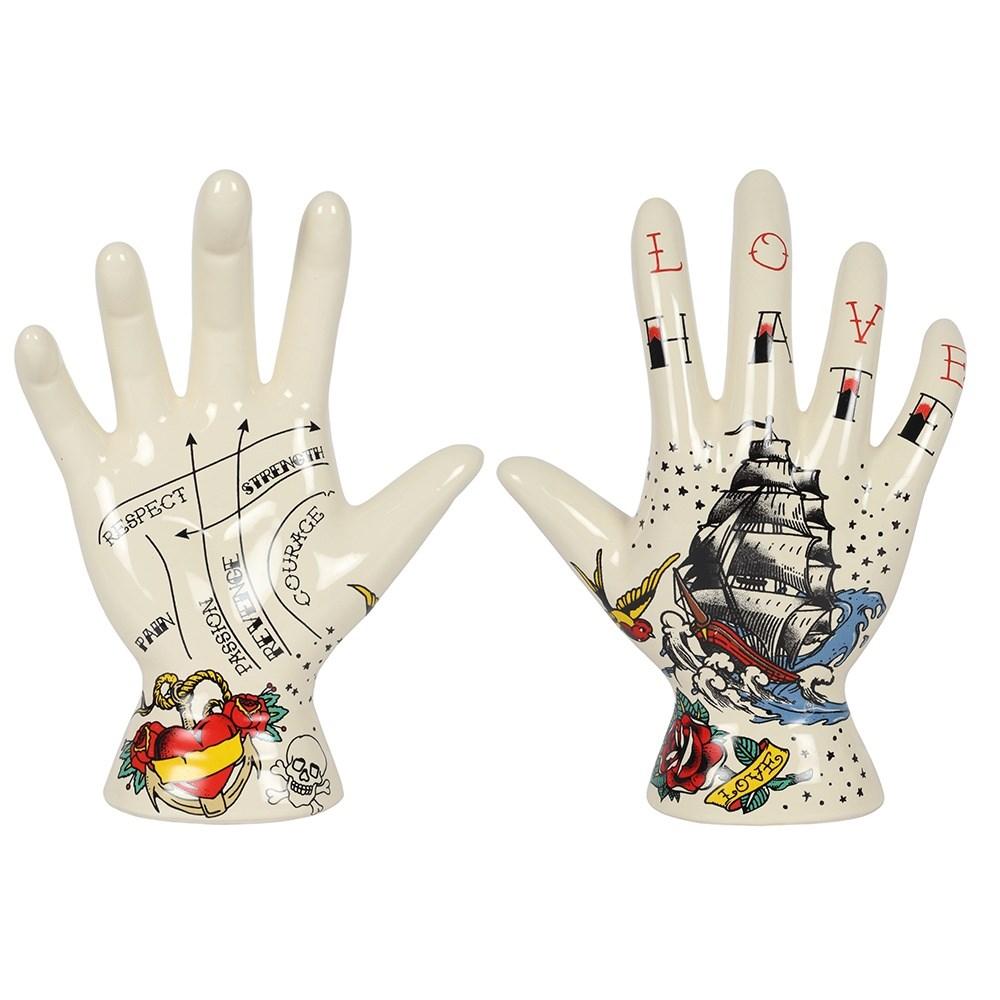 Palmistry Tattoo Hand Ornament