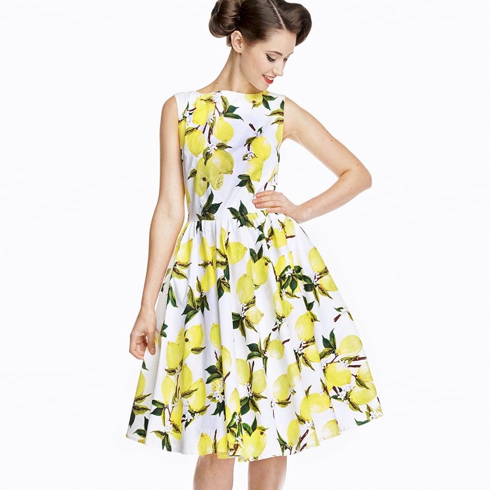 Marilyn White Lemons 1950s Style Dress Size 20