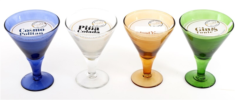Cocktail Glass Candle