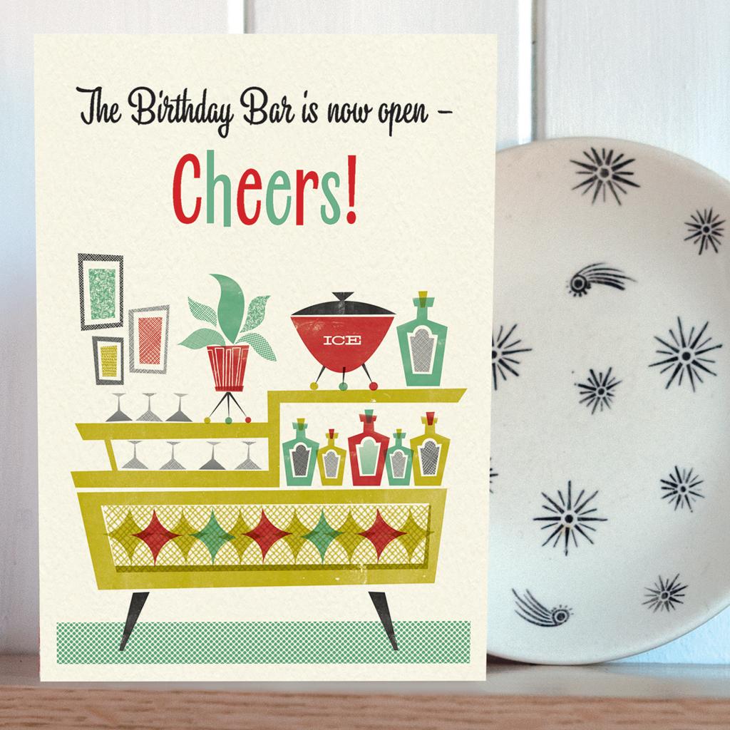 Honey Birthday Bar Open Card