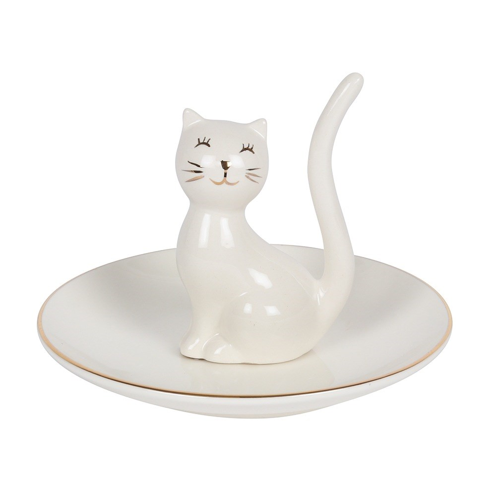 Cat Ceramic Ring & Trinket Tray