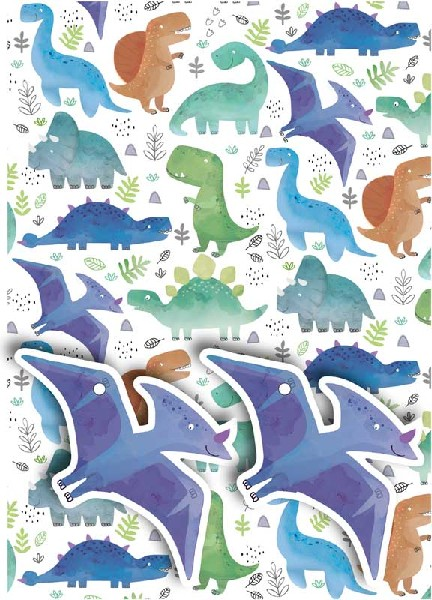 Gift Wrap Pack Dinosaurs