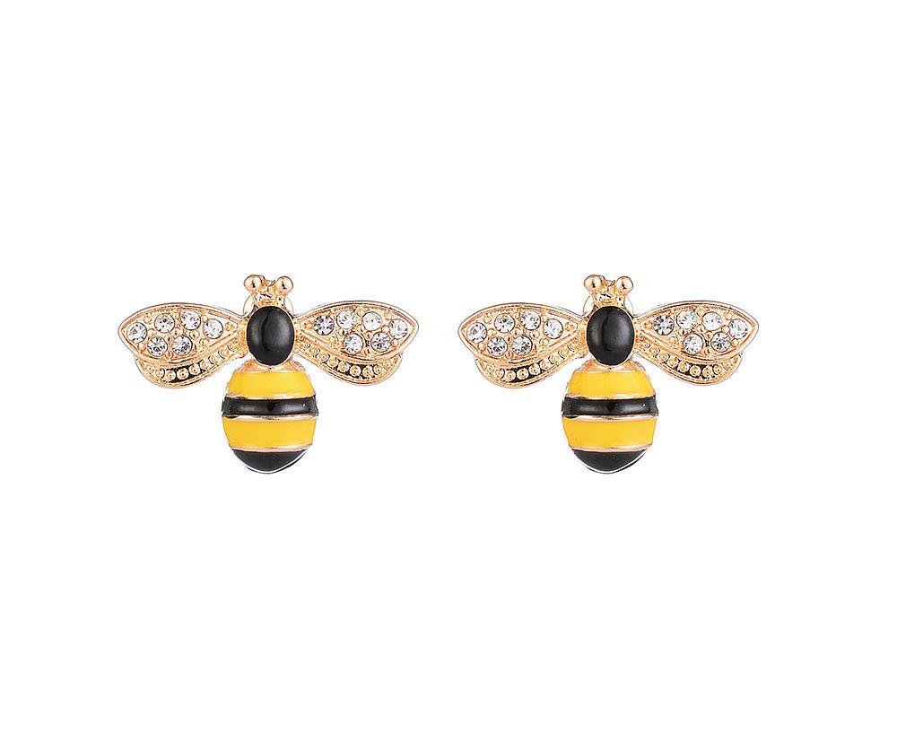 Enamel Bumble Bee Earrings