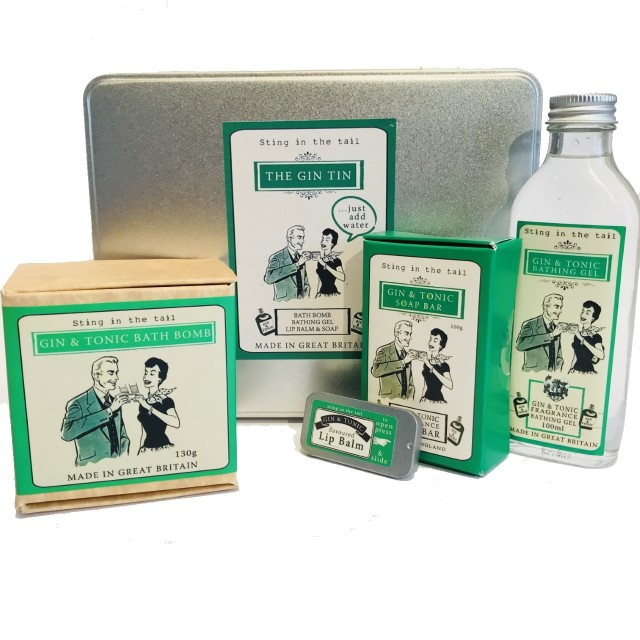 Gin Tin Bath Gift Set