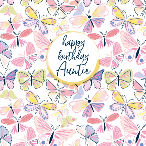 Pattern Boutique Auntie Birthday Card