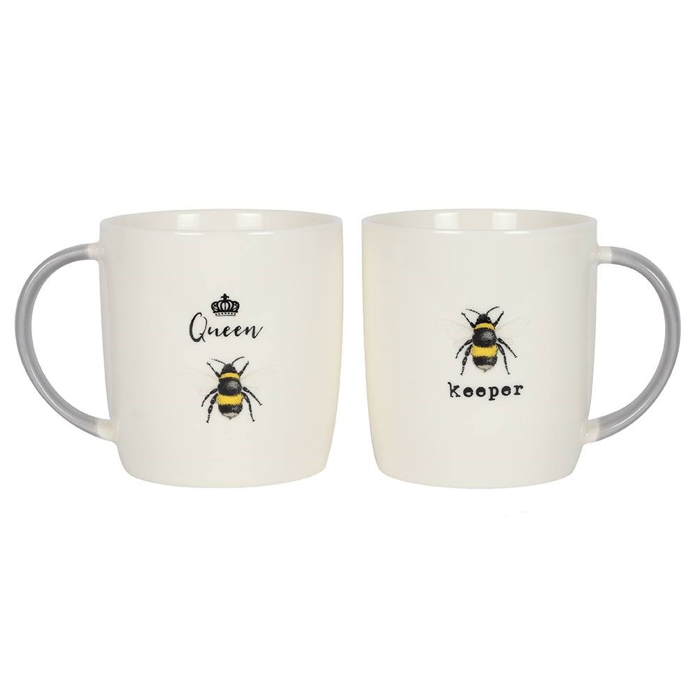 Queen Bee & Bee Keeper Couple Mugs Set