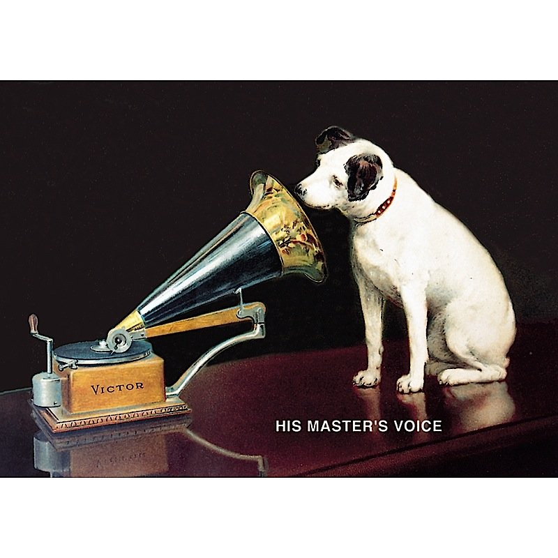 Vintage Large Sign His Master's Voice