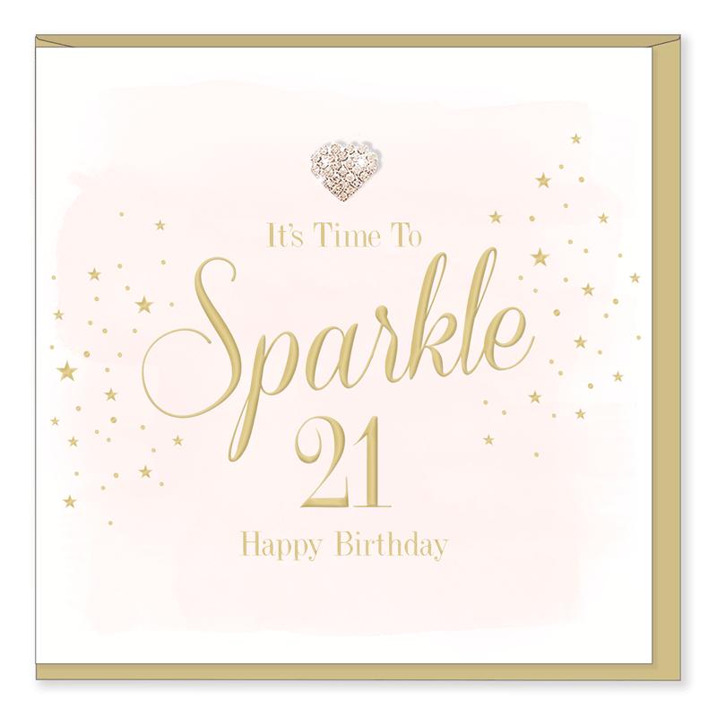 Hearts Designs 21 Birthday Card