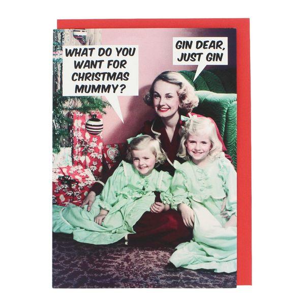 Christmas Mummy Gin Card