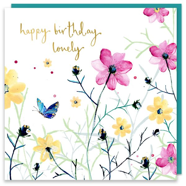 Happy Birthday Lovely Floral Card