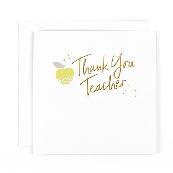 Gold Leaf Thank You Teacher Card