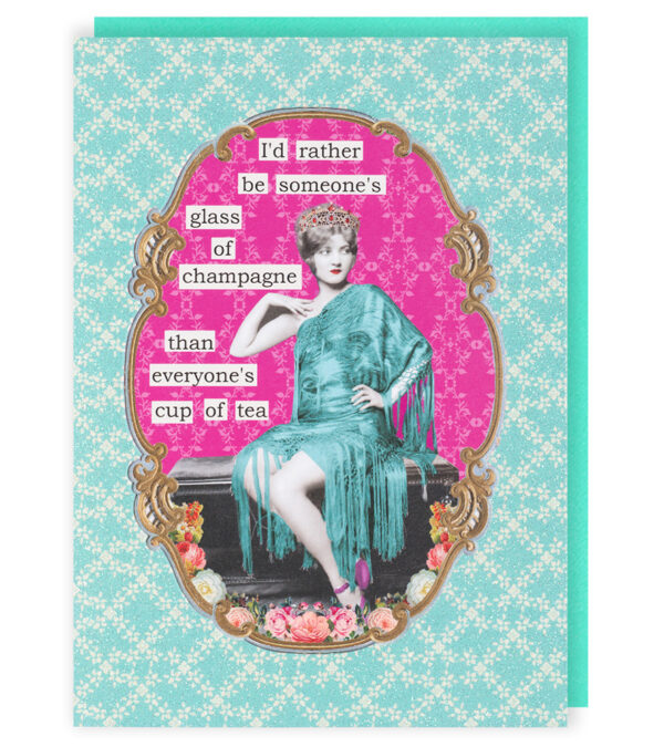 Darling Divas Glass Of Champagne Card