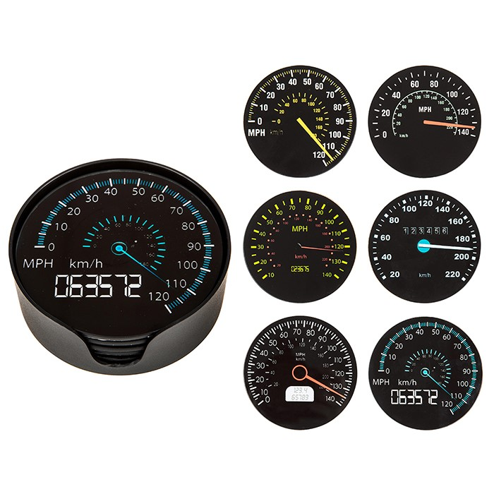 Coaster Set Speedometers