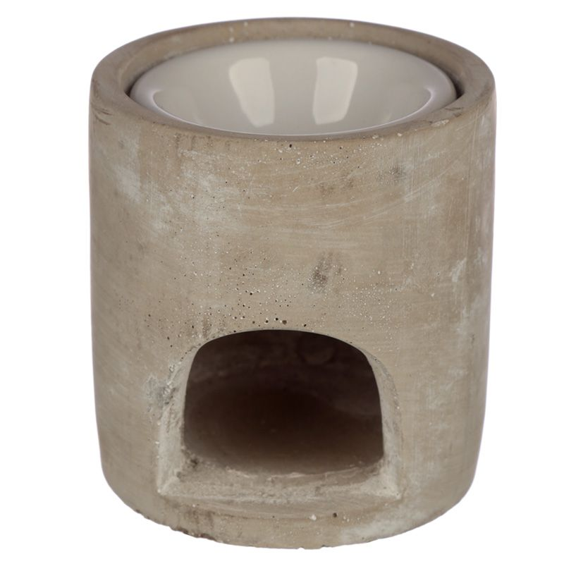Concrete Rustic Heart Oil/Melt Burner