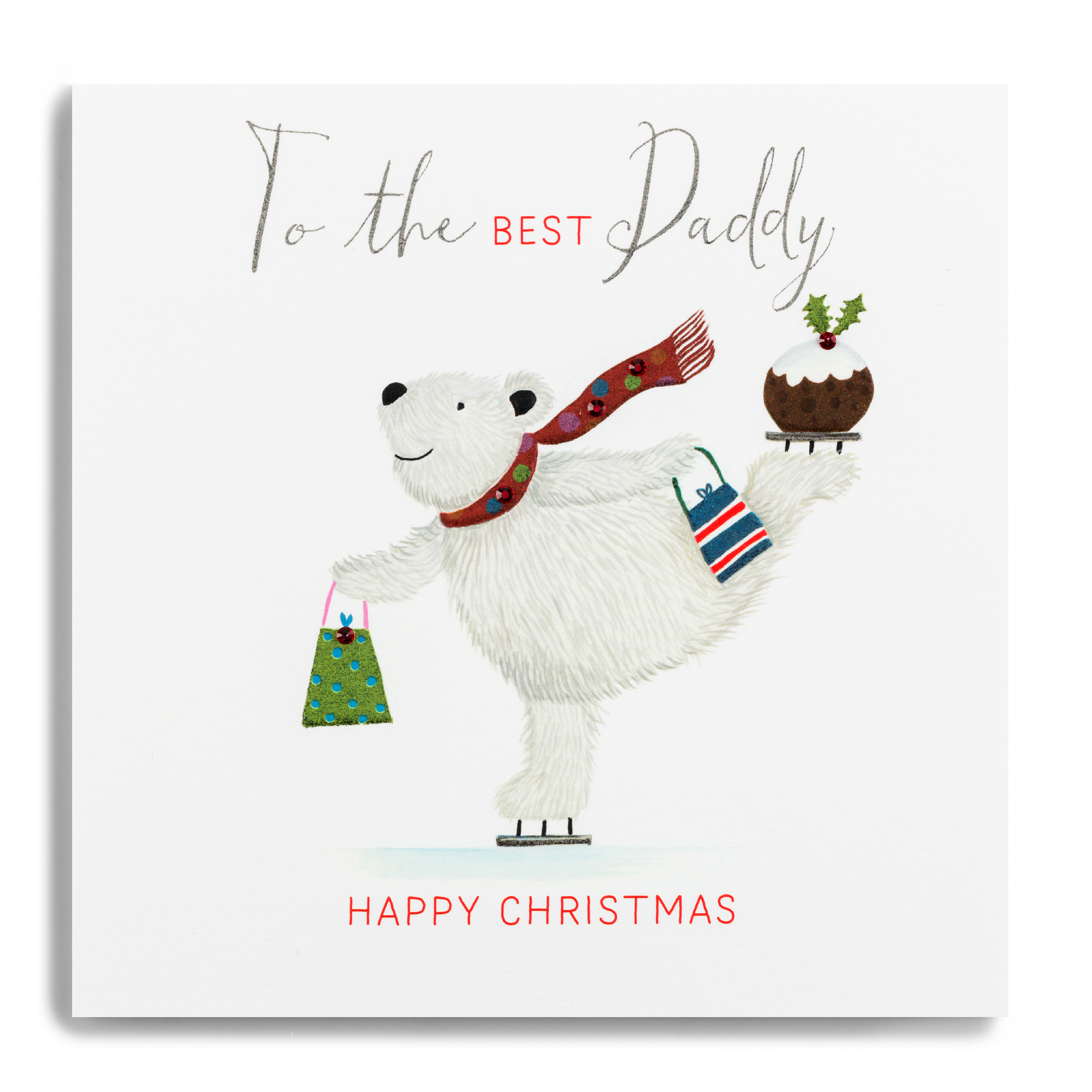 Forget Me Not Happy Christmas Best Daddy Card
