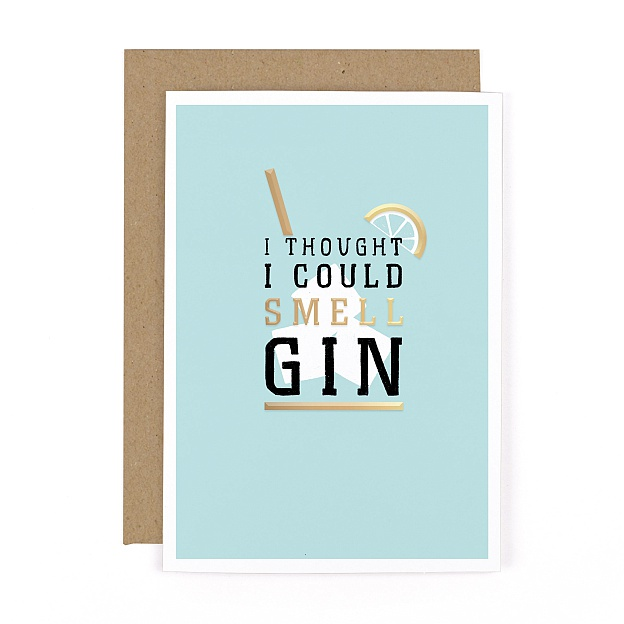 Gee Whiz Smell Gin Card