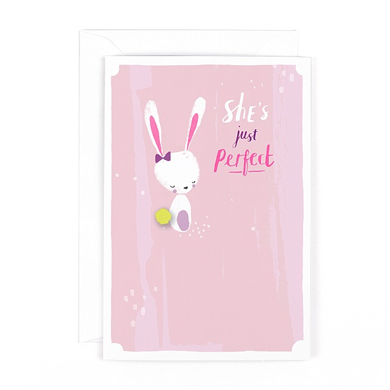She's Just Perfect Baby Girl Card
