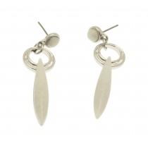 White Oval Drop Earrings NBC