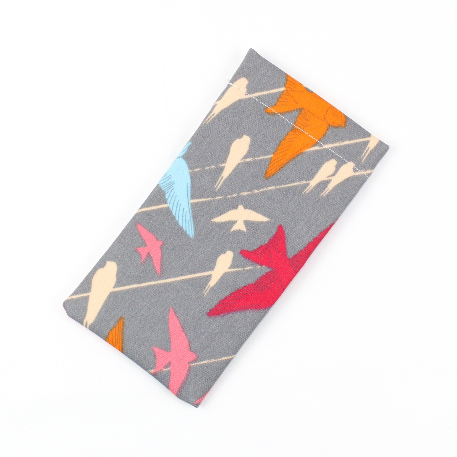 Grey Birds Soft Glasses Case
