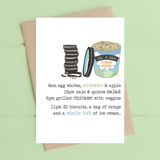 Dandelion Ice Cream & Biscuits Card