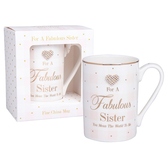 Hearts Designs Fabulous Sister Mug