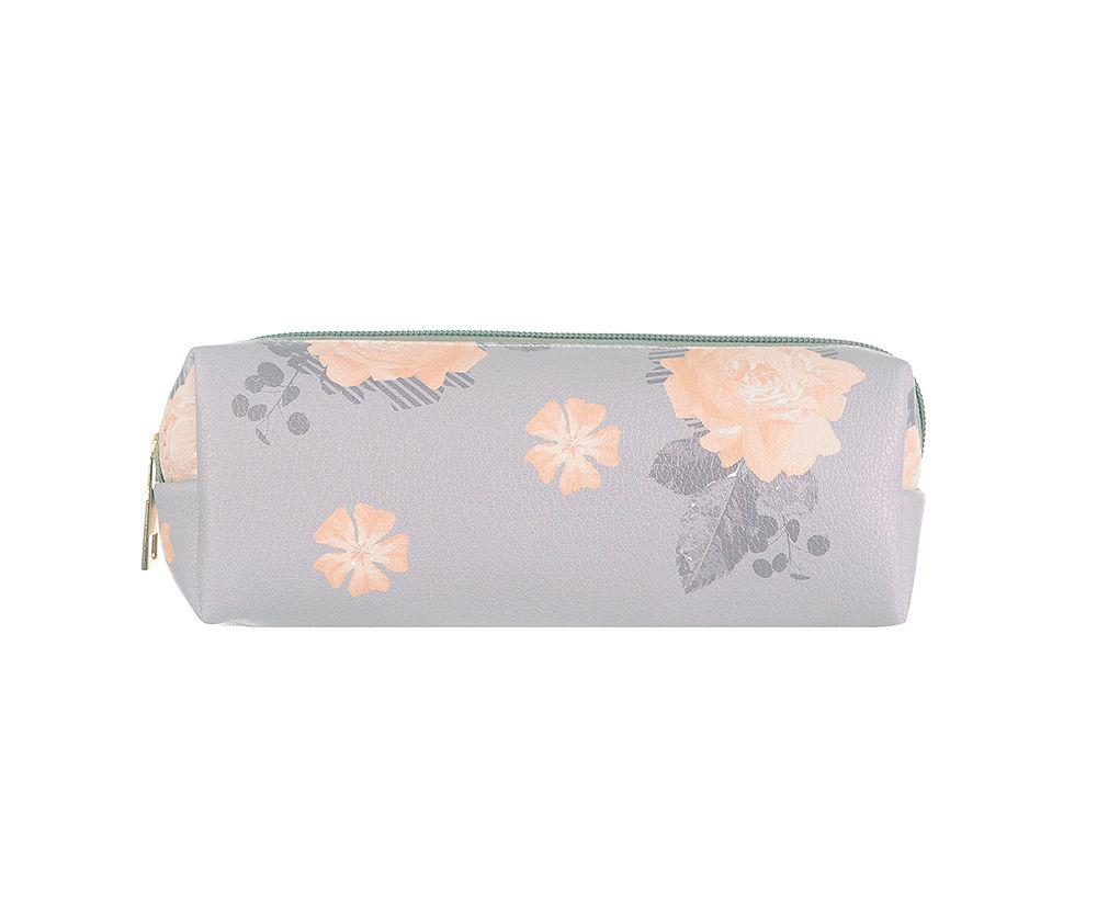 Lilac Floral Pencil Make Up Bag