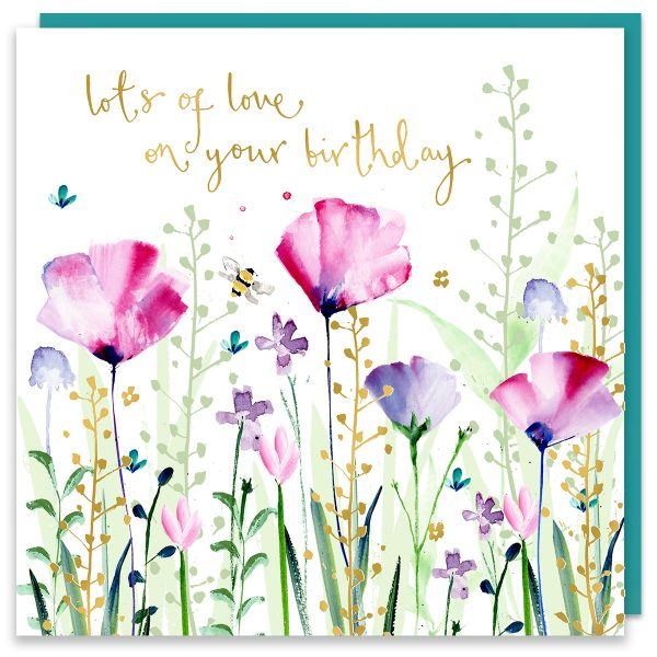 Lots Of Love Birthday Flowers Card