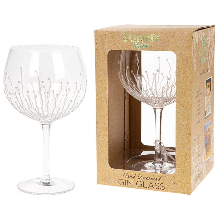 Gin Glass Glitter Stems