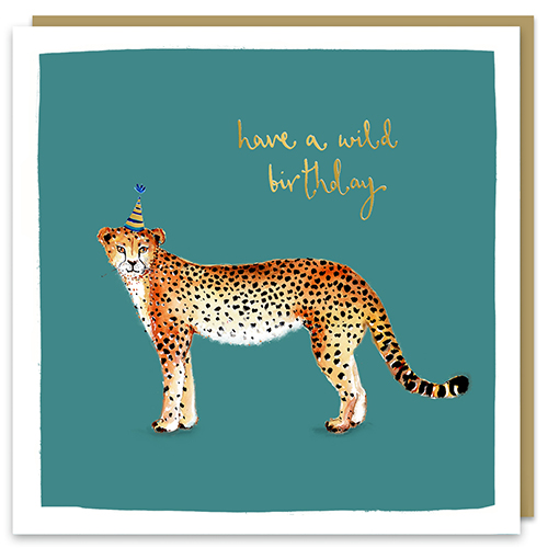 Have A Wild Birthday Cheetah Card