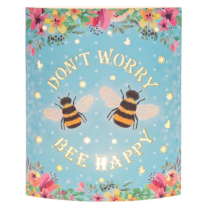Don't Worry Bee Happy LED Lantern