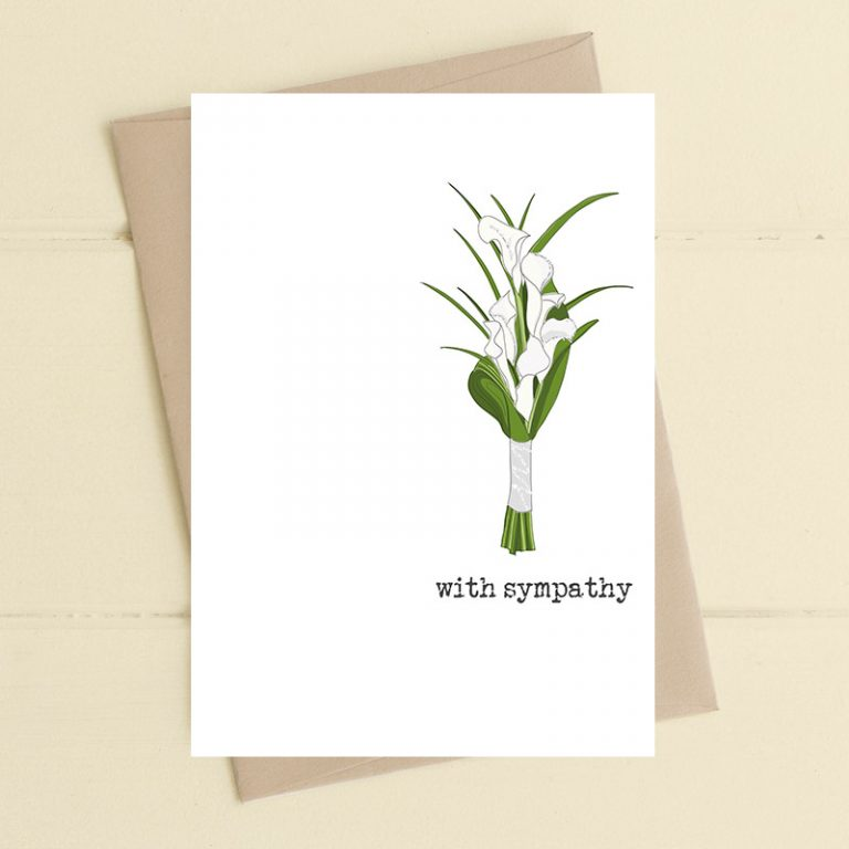 Dandelion Lilies With Sympathy Card