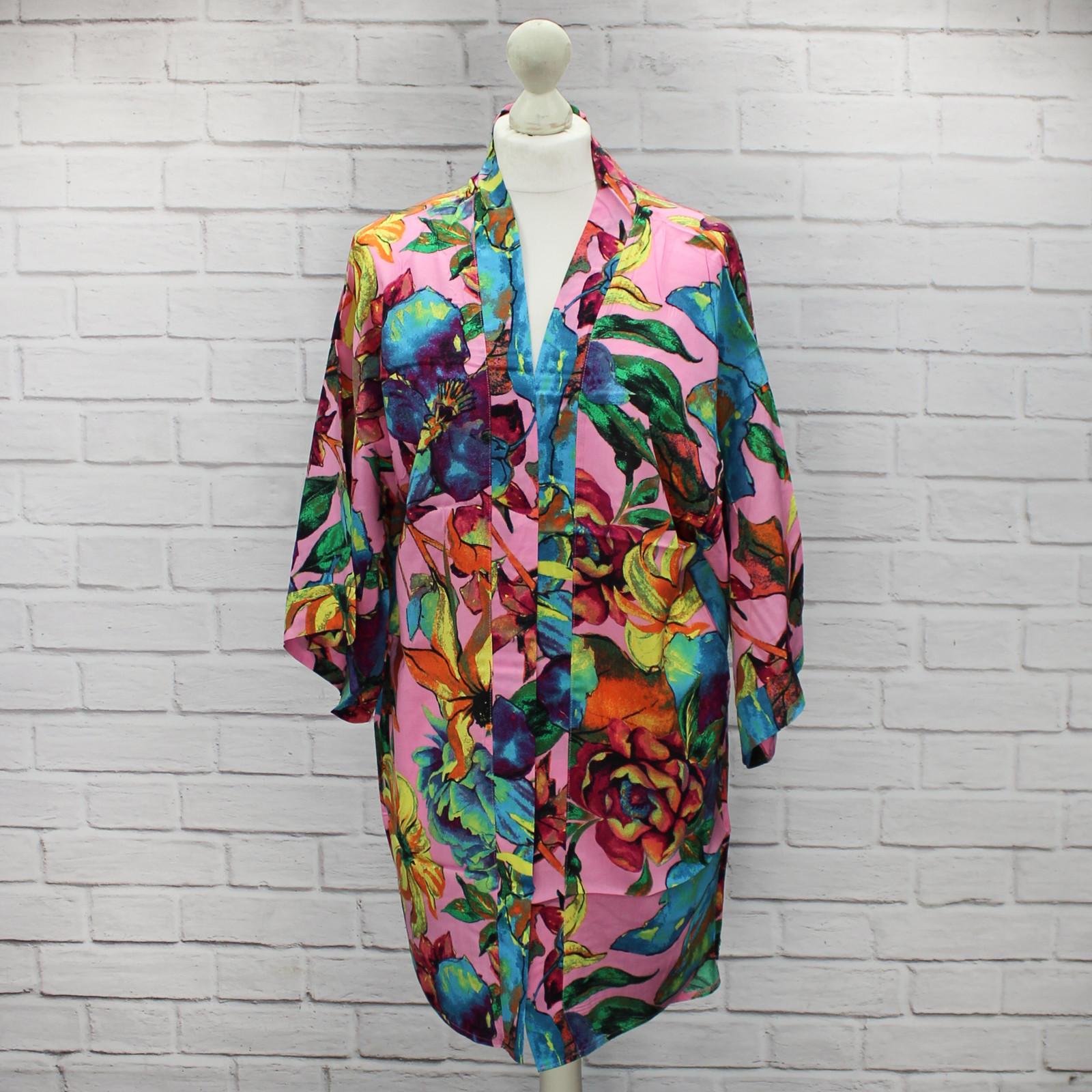 Asami Pink Bold Floral Kimono