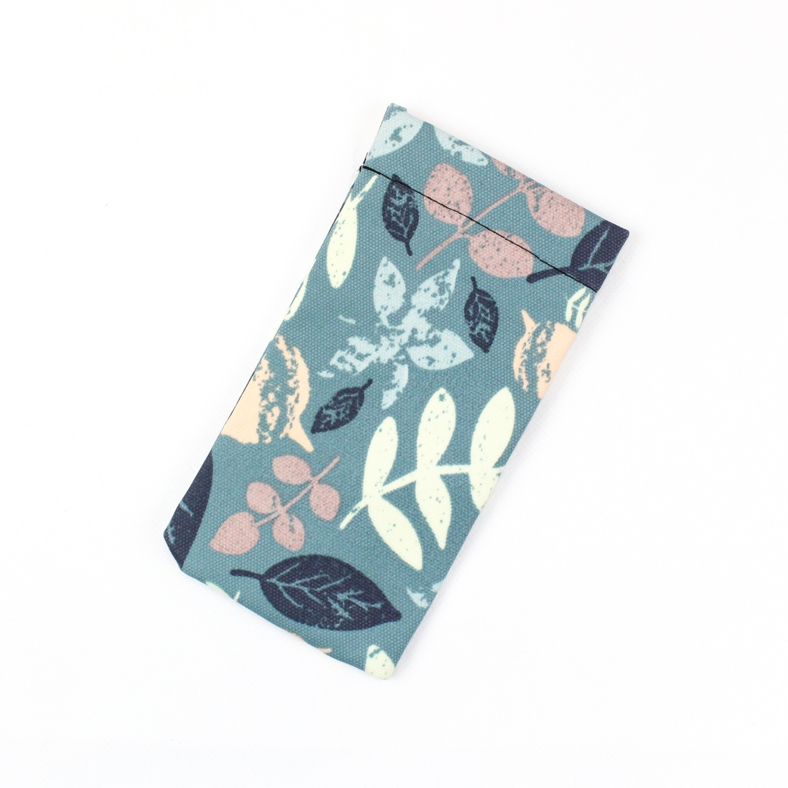 Teal Leaf Soft Glasses Case